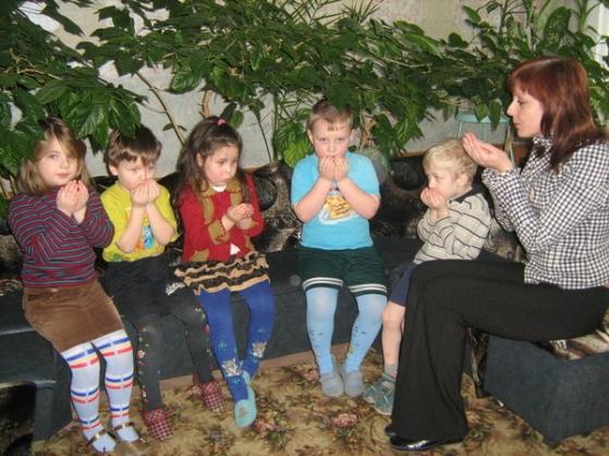 В работе с детьми дошкольного