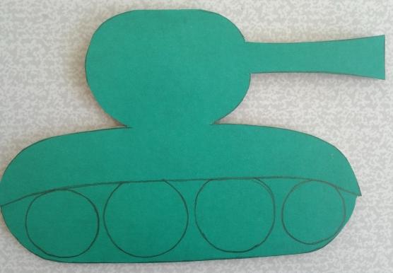 Шаблон танка для открытки аппликация 2 младшая группа, марта