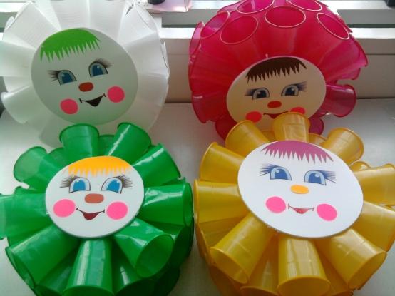 Поделка солнышко в детский сад из одноразовой тарелке 83
