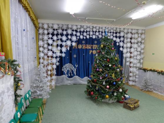Украшение зала к новому году своими руками