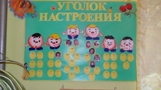 уголок эмоции в детском саду