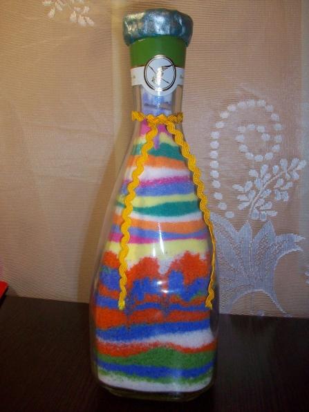 цветная соль в бутылке пошаговая инструкция