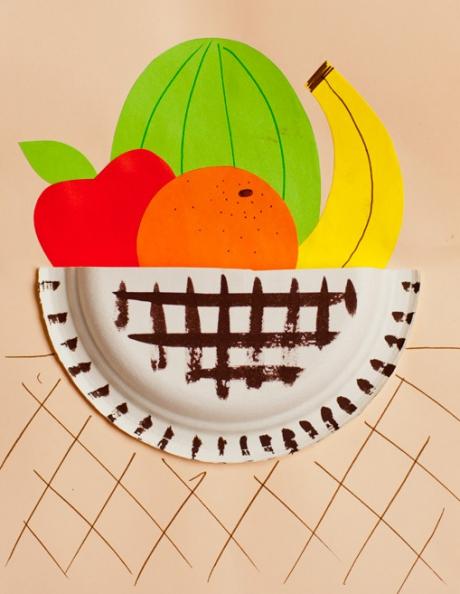 Поделка фрукты на тарелке 41