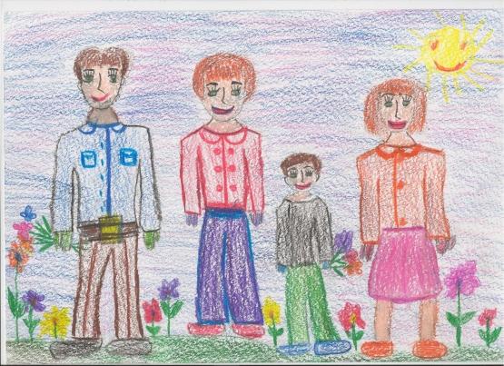 детские рисунки людей: