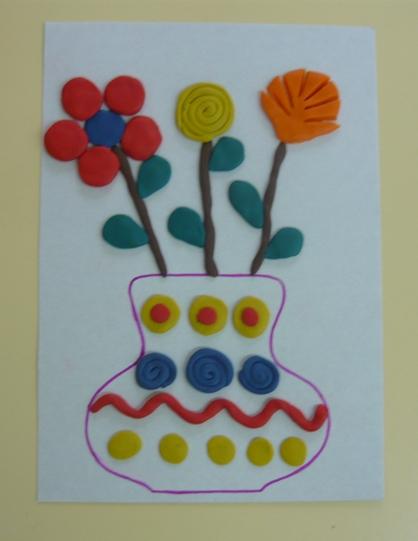 Пластилинография. «Весенний букет».