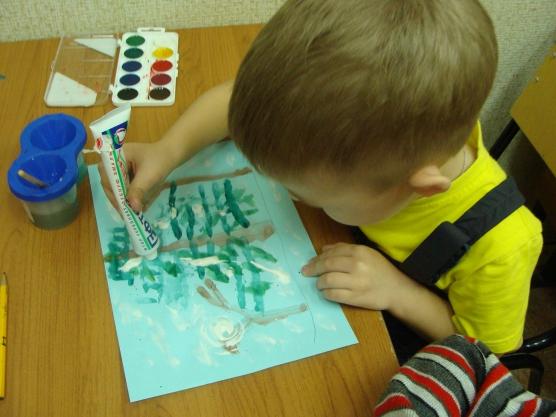 знакомство с акварелью в детском саду