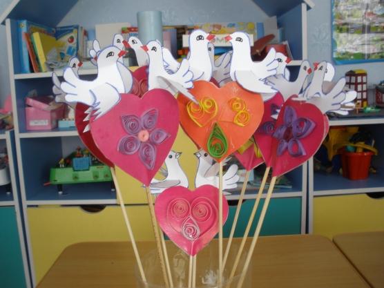 Поделки в детском саду на день святого валентина