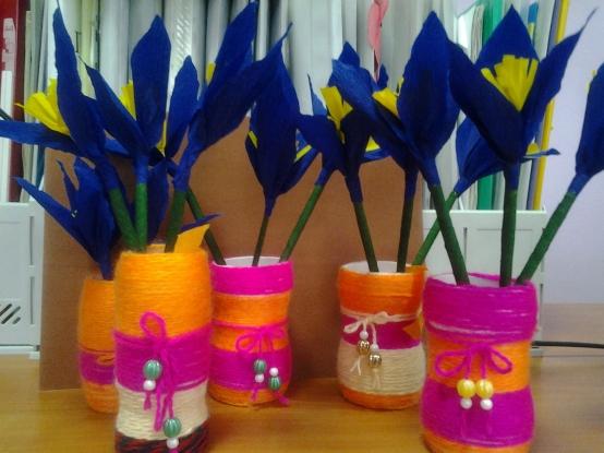 Поделки своими руками в садик ваза 41