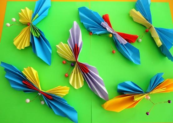 Поделка бабочка из гармошки
