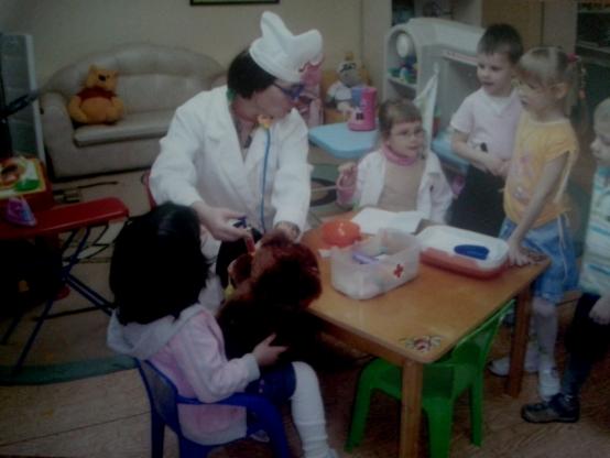 знакомство с профессией врача 1 младшей группе