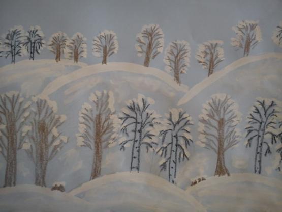Конспект НОД по рисованию в старшей группе «Зима-волшебница»