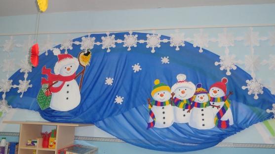 Оформление к новому году детского сада