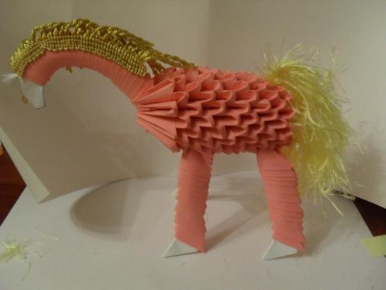 Лошадь из модульного оригами схема