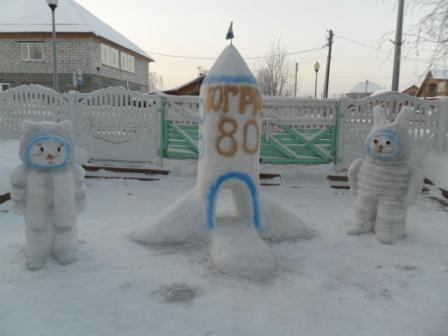 Поделки на участке детского сада зимой своими руками