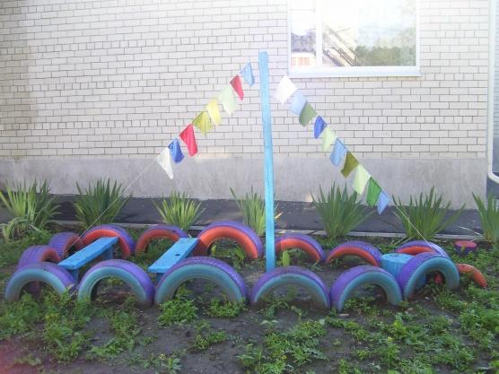Оформление участков детского сада, благоустройство