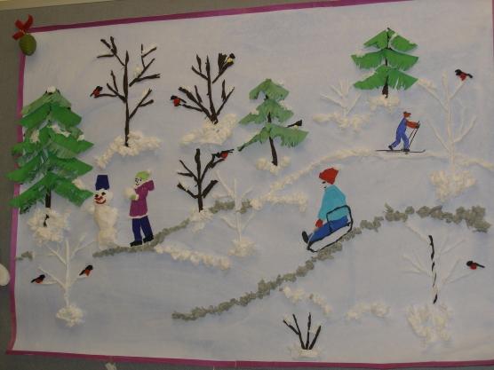 Зимние поделки и рисунки своими руками