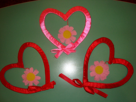 Валентинки своими руками с ленты