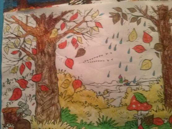 Картинки детей на природе осенью