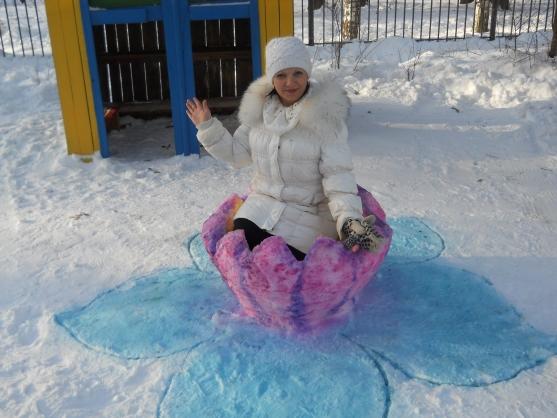 Поделки из снега в детском саду как делать