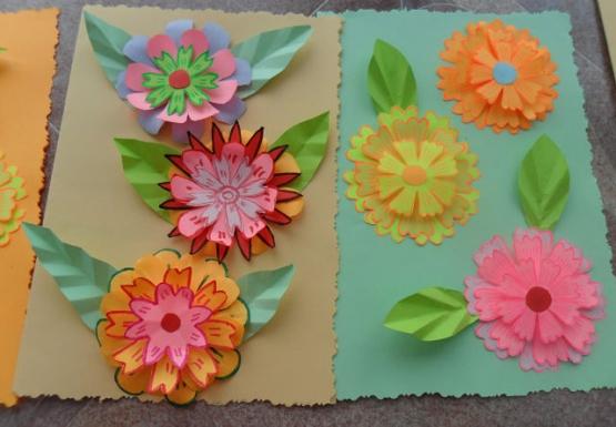 Поделки цветы своими руками из цветной бумаги