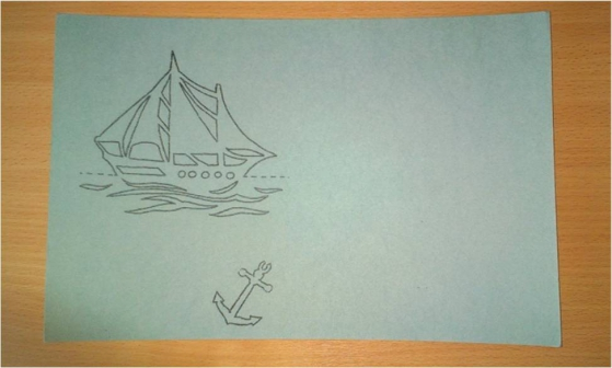 Открытка кораблик киригами с шаблоном на 23 февраля 3 класс