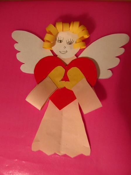 «Рождественские ангелочки». Конспект НОД по ОО «Художественное творчество» (аппликация)
