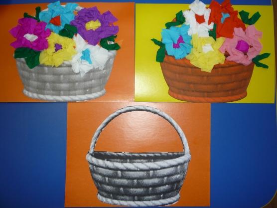 Группе корзина цветов для мамочки