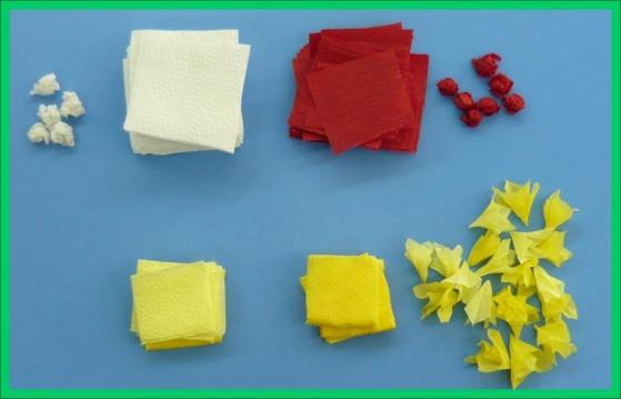 Как сделать гиацинт из салфетки