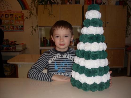 Поделка для детского сада на новый год своими руками