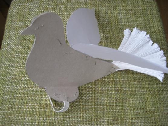 Объемная голубь пошаговое строительство