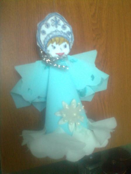 Снегурка своими руками из салфеток