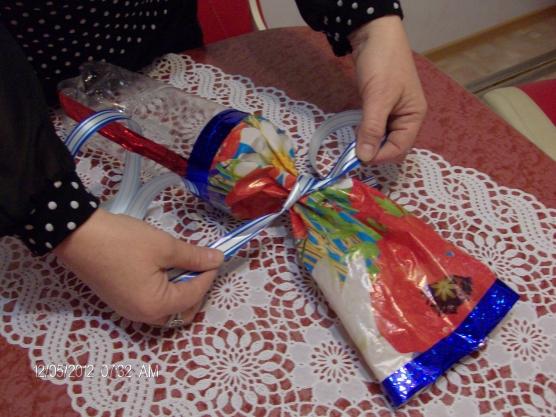 Конфета из бутылки на елку своими руками