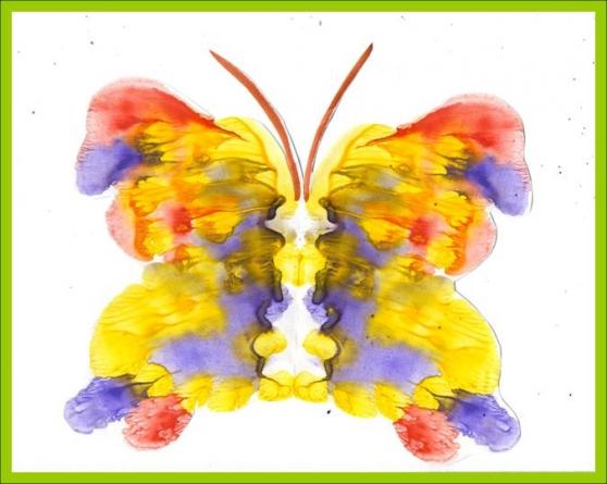 Бабочки рисунки нетрадиционные
