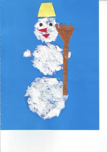 Конспект занятия по ручному труду в старшей группе на тему «Снеговик»
