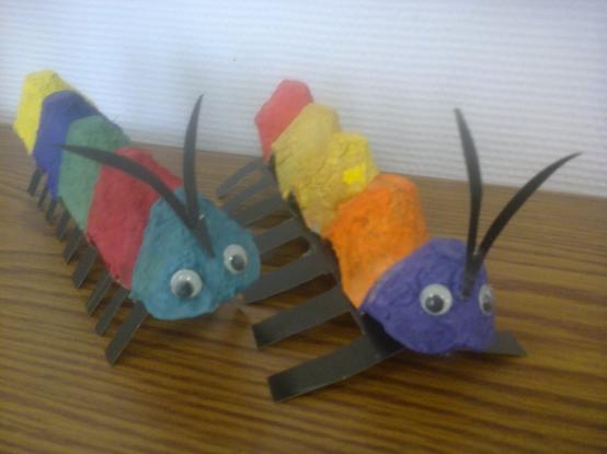 Мастер-класс по изготовлению поделки «Весёлая гусеница»