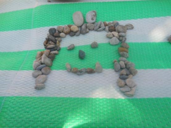 Поделка из камушков на окружающий мир 96