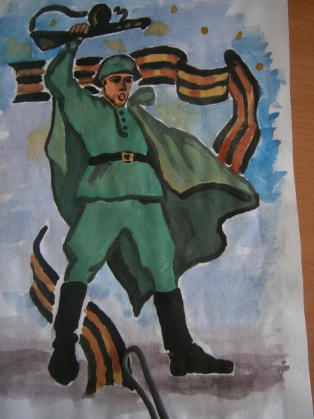 великая отечественная война рисунки детей: