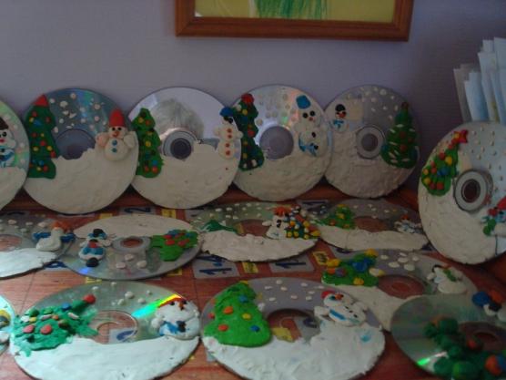 Работы из дисков фото