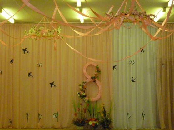 Оформление зала к 8 марта в детском саду фото своими руками