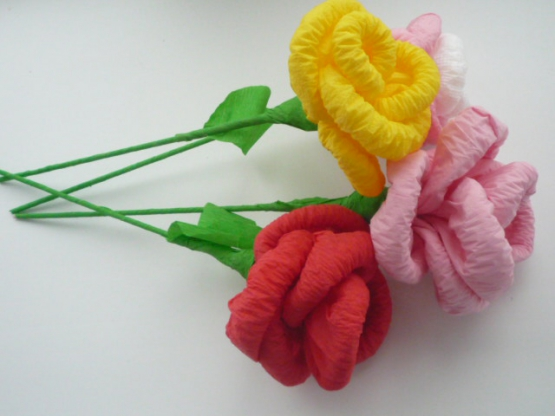 Роза из салфетки своими руками
