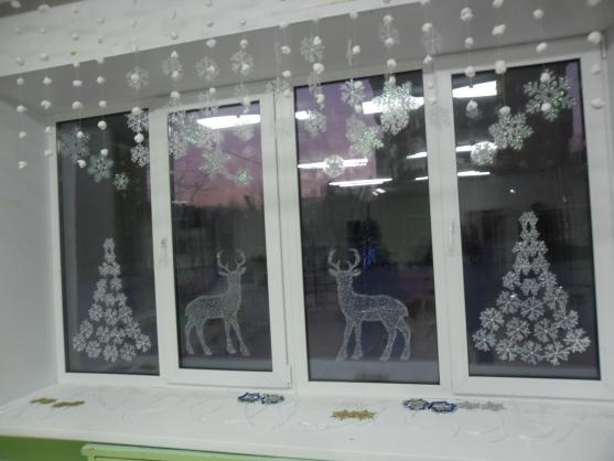 Елка из снежинок своими руками на окно