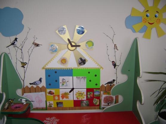 Времена года оформление в детском саду своими руками