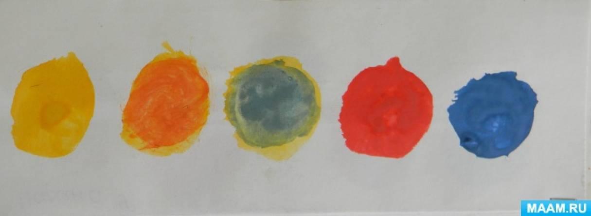 знакомство детей с хроматическими цветами