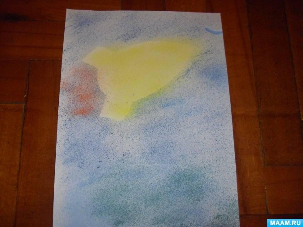 Нетрадиционная техника рисования набрызг