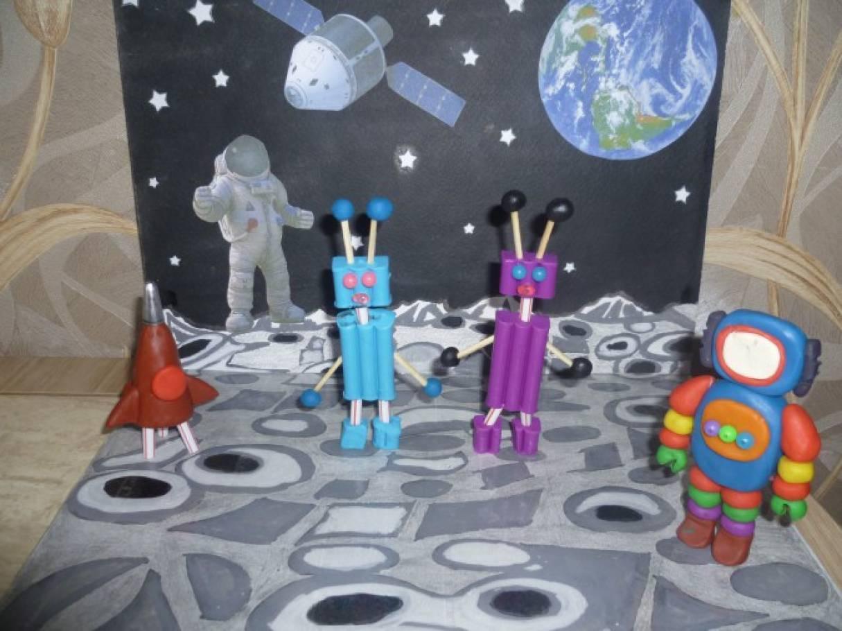 Поделки в сад на тему космос 23
