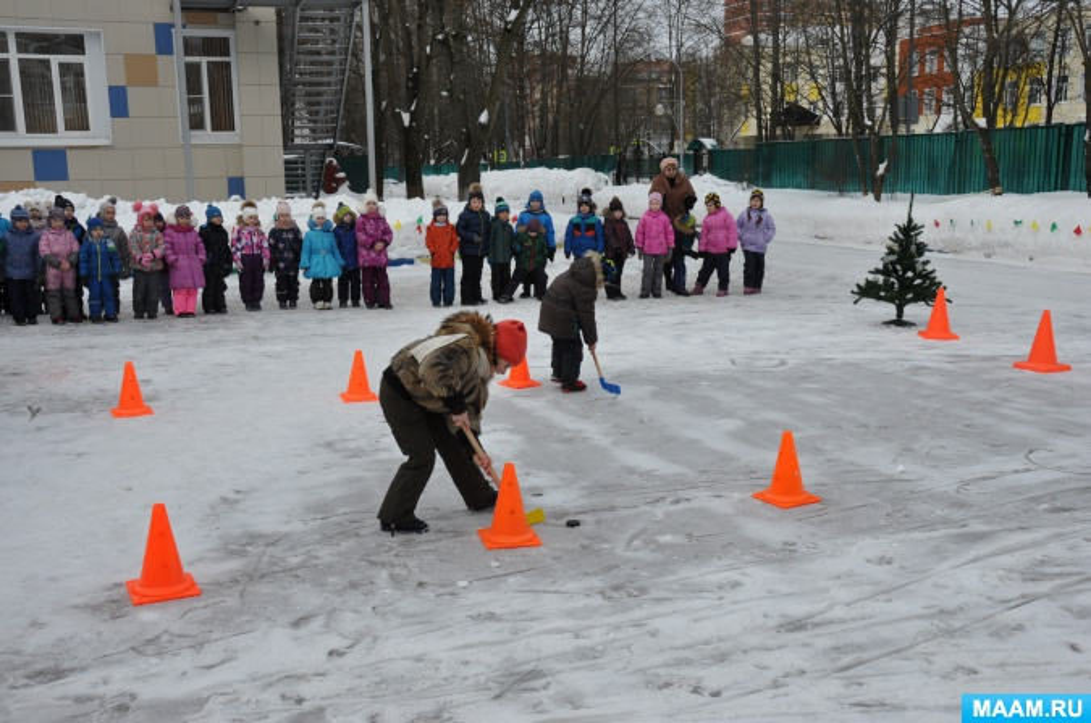 Сценарий зимнего праздника «Зимние забавы» для старших дошкольников на улице