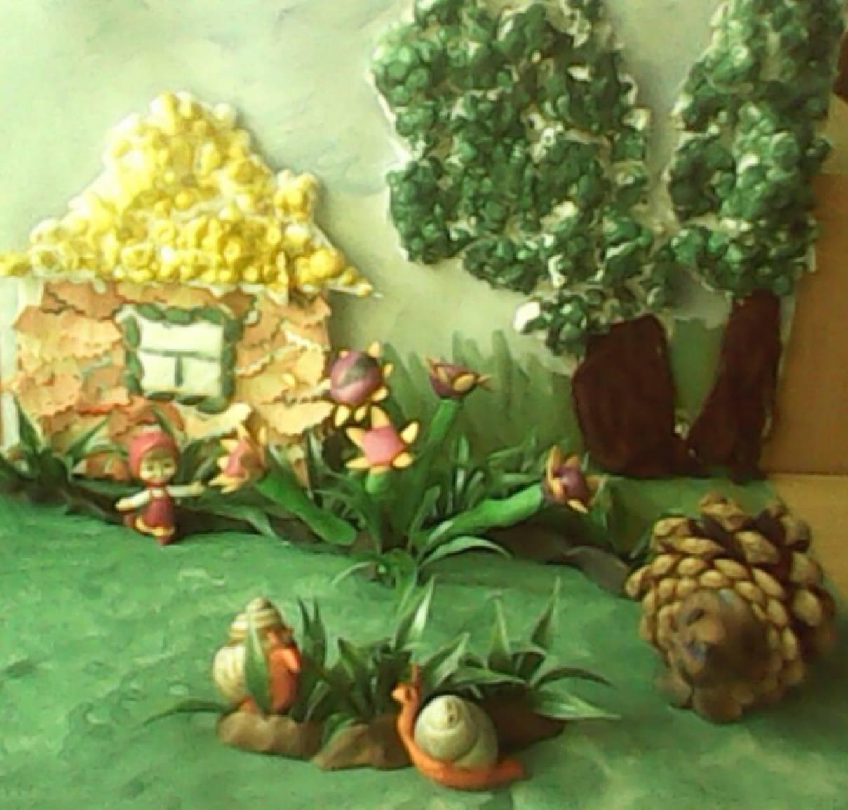 Дидактическая игра «В гостях у сказки» из природного и бросового материала
