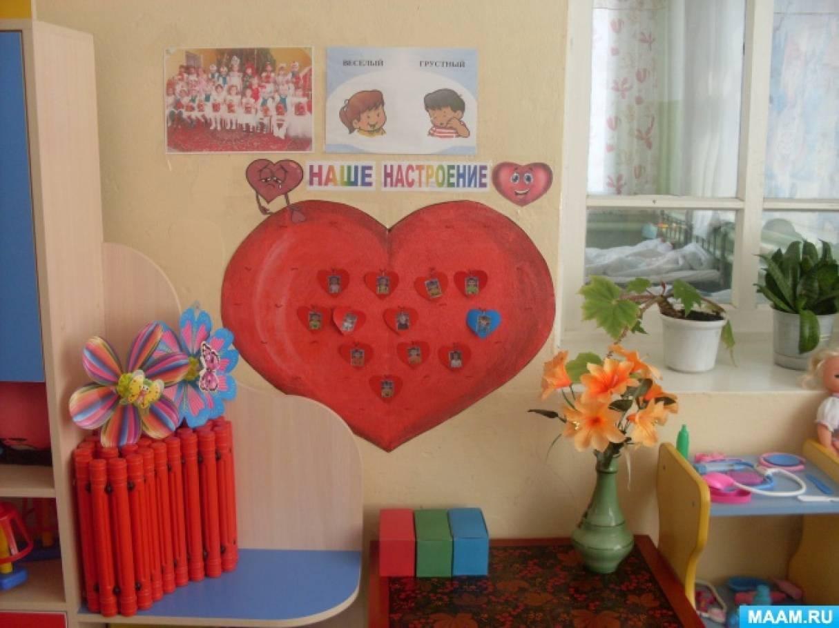 Оформление уголка «Наше настроение» в детском саду