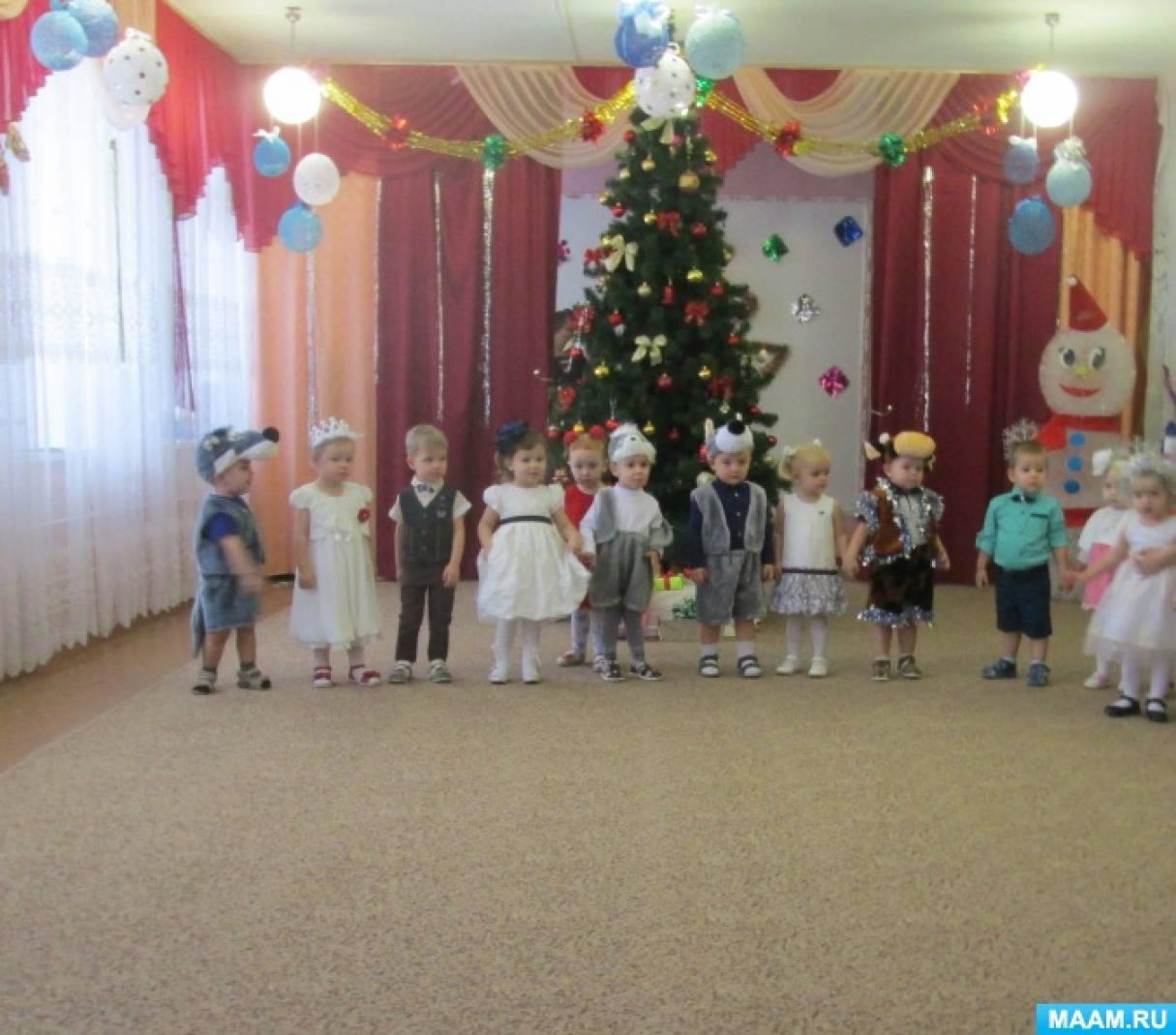Сценарий новогоднего праздника для первой младшей группы «Здравствуй, наша ёлочка»