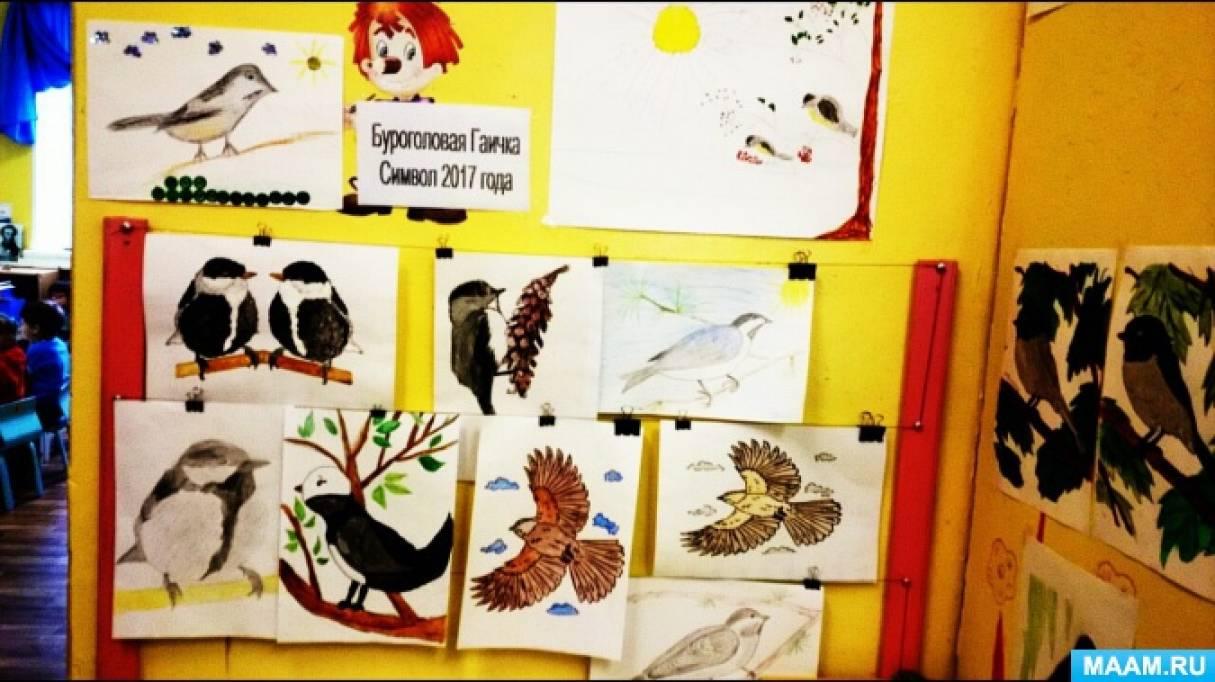 Участие в конкурсе рисунков Висимского государственного заповедника на тему «Буроголовая гаичка— птица 2017 года»